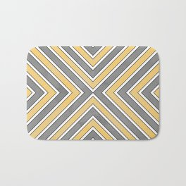 Stripes in Grey and Yellow-bold Bath Mat