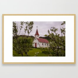 Reyniskirkja Framed Art Print