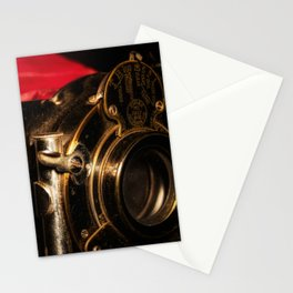 Scarlet a vintage Kodak folding camera retro art Stationery Cards