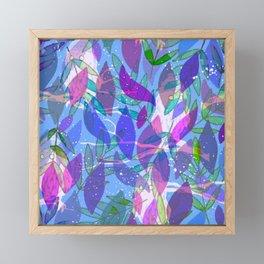 modern leaves pattern Framed Mini Art Print