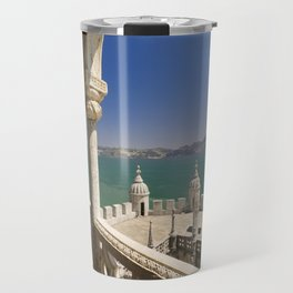 The Torre de Belem and river Tejo, Lisbon, Portugal Travel Mug