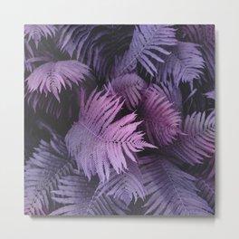 Purple fern plant Metal Print