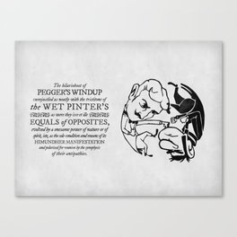 equals of opposites Canvas Print