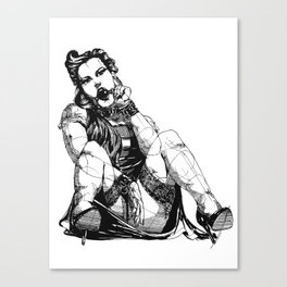 Playful Girl Canvas Print