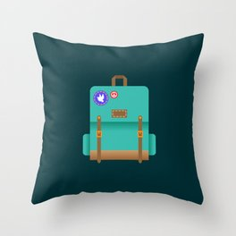 Backpack fit for any adventure Throw Pillow