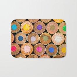 COLORED PENCILS 3 Bath Mat