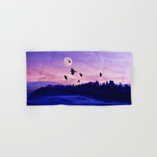 Crow moon Hand & Bath Towel