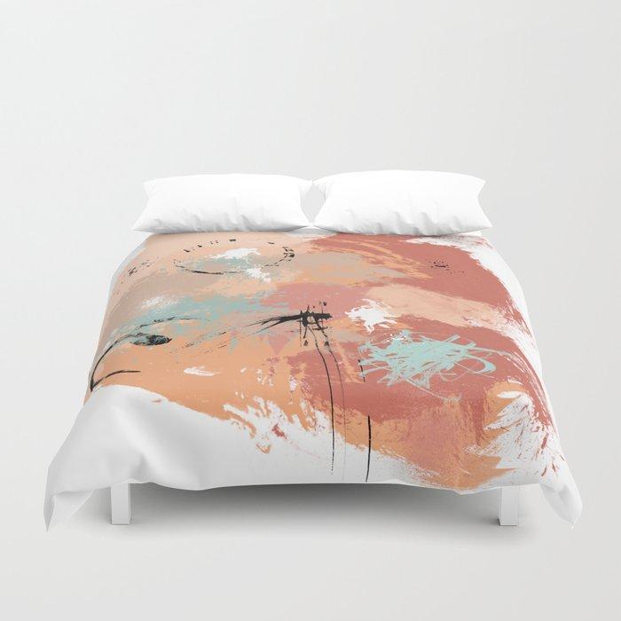 Unrestrained, Abstract Art Brushstrokes Duvet Cover