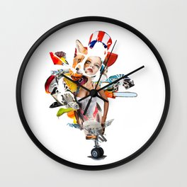 American Venus Chainsaw Insect Wheel Girl Wall Clock