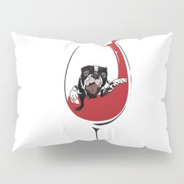 Had a ruff day?  It's wine time! Pillow Sham