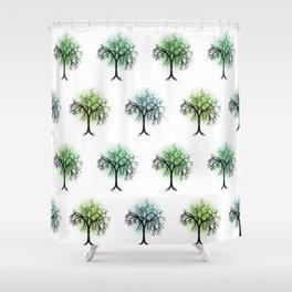 Tree pattern Shower Curtain