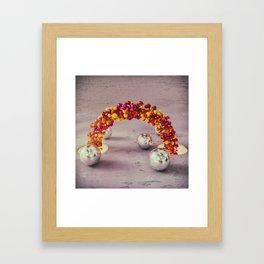 Ribbon of balls Framed Art Print