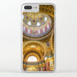 St Stephen's Cathedral Budapest Clear iPhone Case