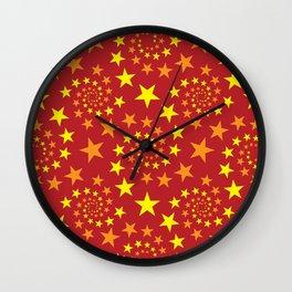 star stars pattern design Wall Clock