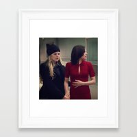 swan queen Framed Art Prints featuring Swan Queen - Choices by Two Swen Idiots