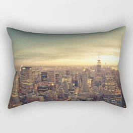 New York Skyline Cityscape Rectangular Pillow