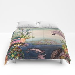 Journey Under the Sea by Maureen Donovan Comforters