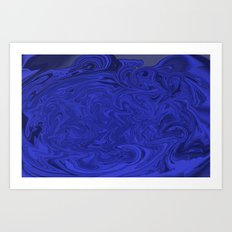 Blue swirls  Art Print
