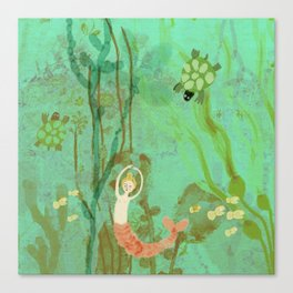 LuLu and the Turtles by Sarah Kiser Canvas Print
