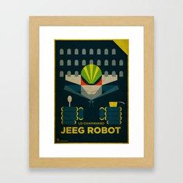 Lo Chiamavano Jeeg Robot Alternative Movie Poster Framed Art Print