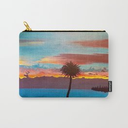 The Beautiful Key West Sun is captured in this ocean sunset painting Carry-All Pouch