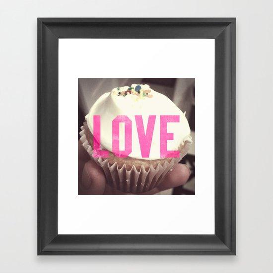 Love Cupcakes Framed Art Print