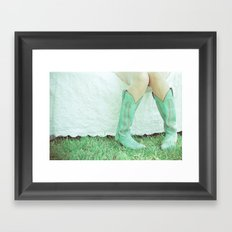 Green Boots Framed Art Print