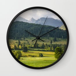 Mountainscape from Slovenia Wall Clock