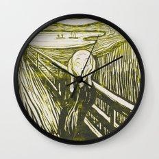 The Scream's Haze (yellow) Wall Clock