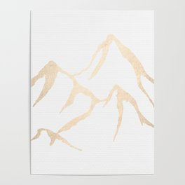 Adventure White Gold Mountains Poster