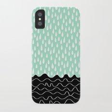 Minty Rain iPhone X Slim Case