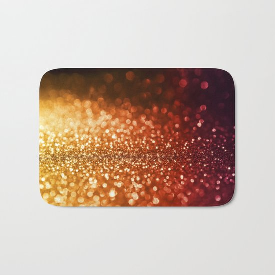 Fire and flames - Red and yellow glitter effect texture on #Society6 Bath Mat