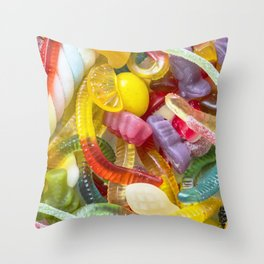 Colorful Candy Throw Pillow