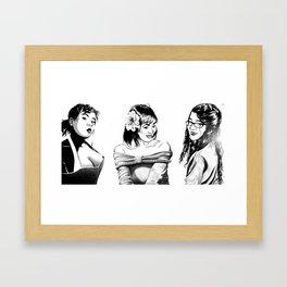 Zimara. Jamila. Opia. Framed Art Print