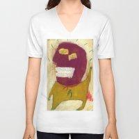 hero V-neck T-shirts featuring Hero by Sasa Jantolek