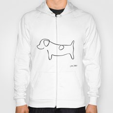 Abstract Jack Russell Terrier Dog Line Drawing Hoody