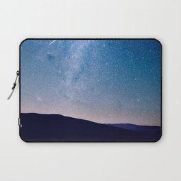 Navy blue blush pink starry night landscape Laptop Sleeve