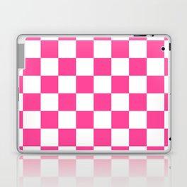 Cheerful Pink Checkerboard Laptop & iPad Skin