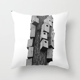 cozy neighborhood Throw Pillow