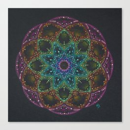 Bright colorful Mandala Canvas Print