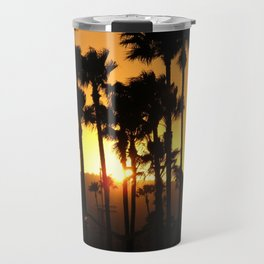 Palm Tree Hill Sunset Travel Mug