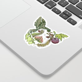 Botanical Pig Sticker