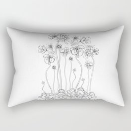 Floral Flytraps Rectangular Pillow