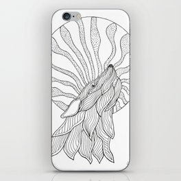 Wolf Howling at the Moon iPhone Skin