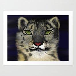 The Eyes Have It - Snow Leopard Art Print