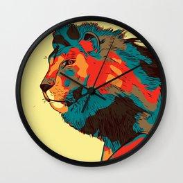 Jumping Lion Abstract Wall Clock
