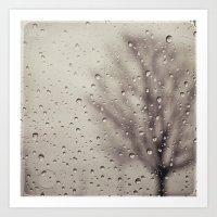 rain Art Prints featuring Rain  by Laura Ruth