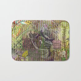 A Strict Code for Mourning Flowers Bath Mat