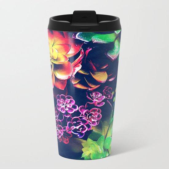 Colorful Plants  Metal Travel Mug