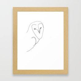 barn owl Framed Art Print